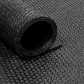 Rubber loper / rubbermat op rol Hamerslag 6mm - Breedte 180 cm